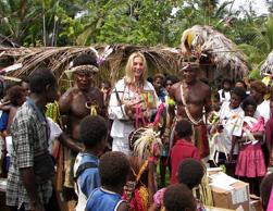 volunteer receiving gift